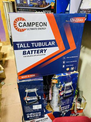 220ah Campeon Tall Tubular Batteries | Solar Energy for sale in Lagos State, Ajah