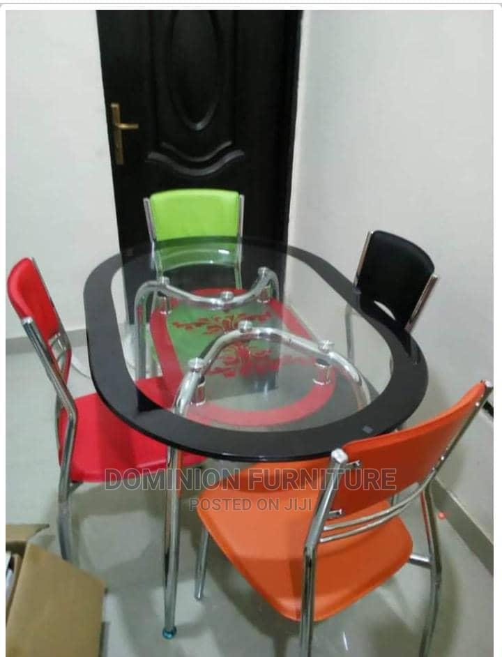 Archive: Good Quality Glass Dinning Table With 4 Chairs(