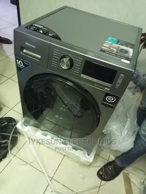 10KG Hisense Washing Machine INVERTER Washing and Drying   Home Appliances for sale in Lagos State, Amuwo-Odofin