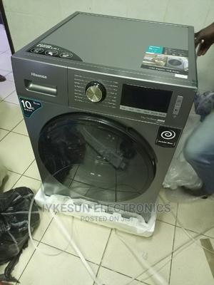 10KG Hisense Washing Machine INVERTER Washing and Drying   Home Appliances for sale in Lagos State, Ikeja
