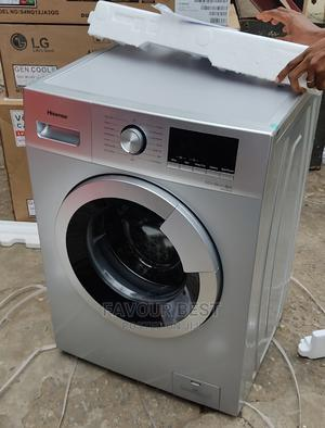 Hisense 8KG Automatic Front Loader Washing Machine Silver | Home Appliances for sale in Lagos State, Ojo