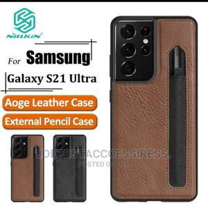 Nillkin Aoge Leather Cover Case for Samsung Galaxy S21 Ultra | Accessories for Mobile Phones & Tablets for sale in Lagos State, Ikeja