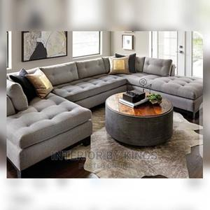 U-Shaped Fabric Sofa With an Ottoman Can Come in Colors   Furniture for sale in Lagos State, Ajah