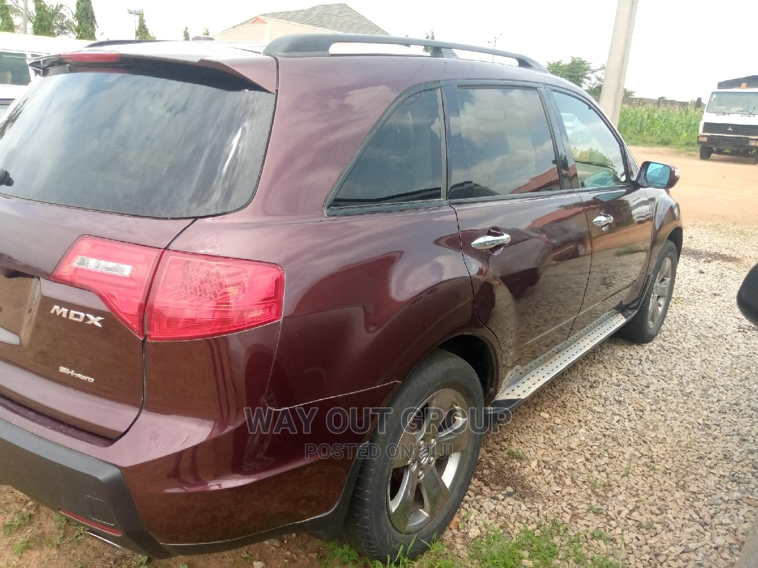 Acura MDX 2007 SUV 4dr AWD (3.7 6cyl 5A) Red   Cars for sale in Kubwa, Abuja (FCT) State, Nigeria