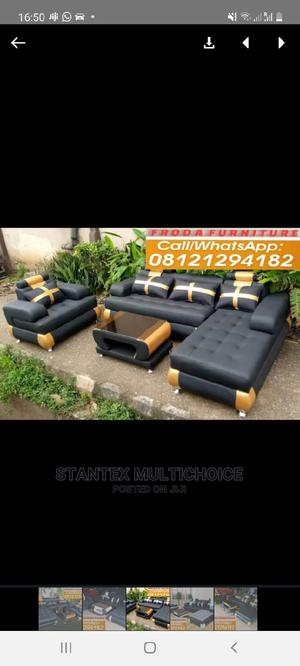 L Shape Sofa With One Single and Center Table   Furniture for sale in Lagos State, Lekki