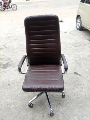 Brown Leather Office Chair   Furniture for sale in Lagos State, Oshodi