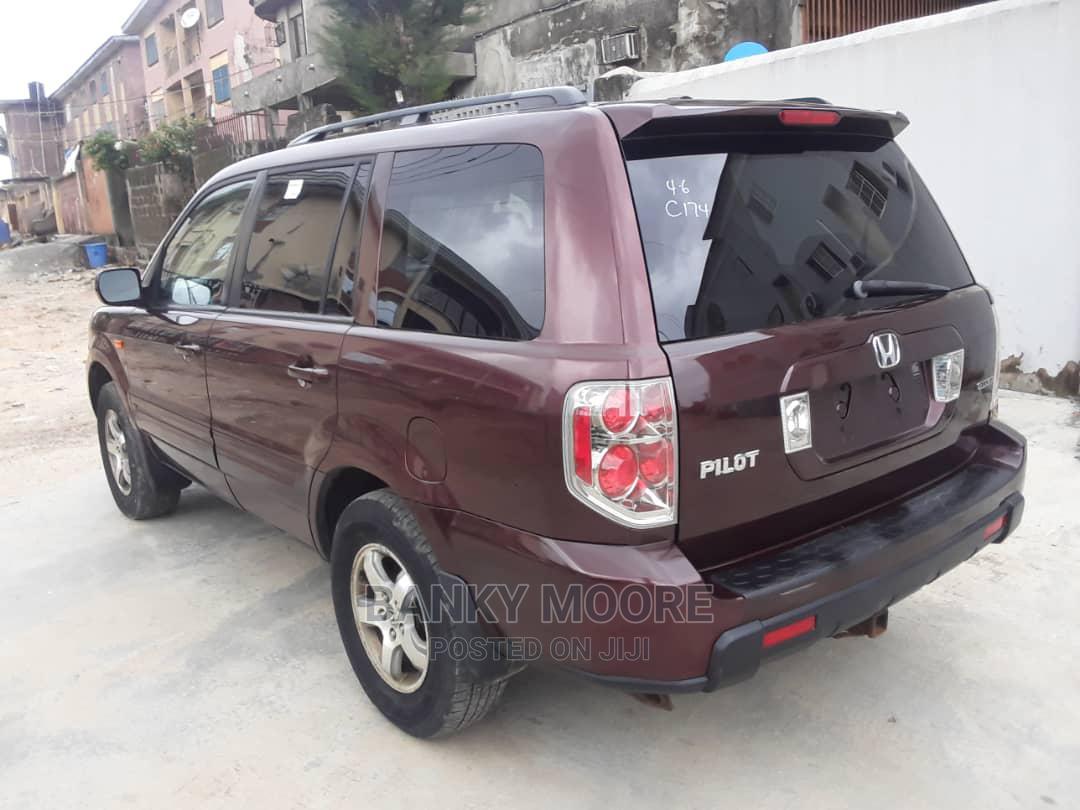 Honda Pilot 2007 EX 4x4 (3.5L 6cyl 5A) Red   Cars for sale in Gbagada, Lagos State, Nigeria
