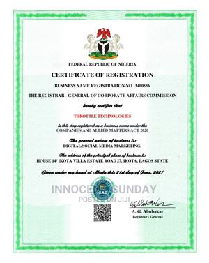 Cac Business Name Registration | Legal Services for sale in Lagos State, Victoria Island