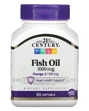 21st Century Fish Oil 1000mg Omega - 3 X 60 | Vitamins & Supplements for sale in Lagos State, Surulere