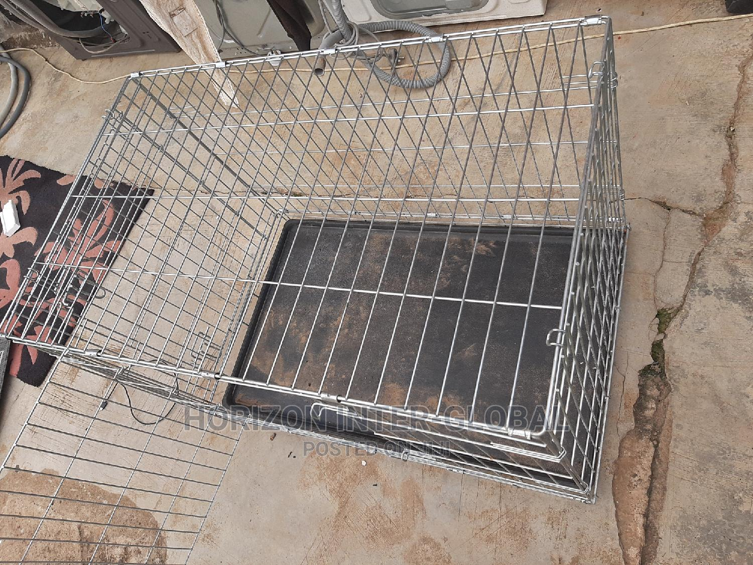 Foreign Used Collapsible Dog Cages   Pet's Accessories for sale in Isolo, Lagos State, Nigeria