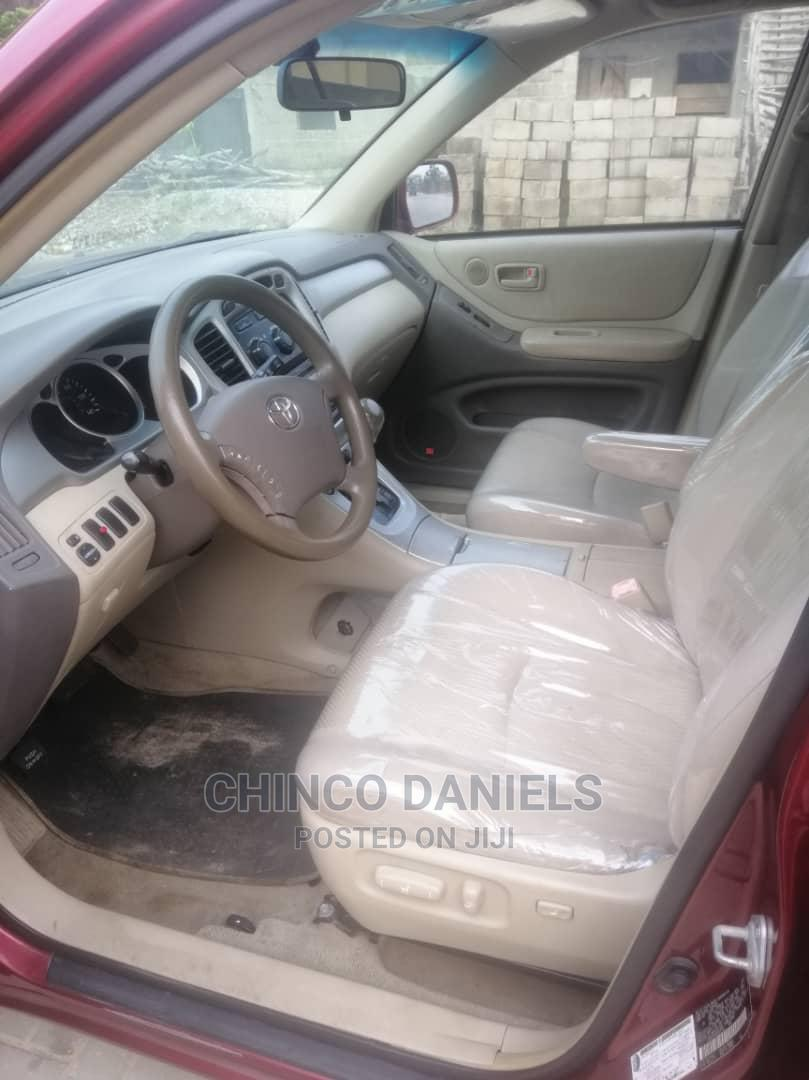 Toyota Highlander 2004 Red   Cars for sale in Amuwo-Odofin, Lagos State, Nigeria
