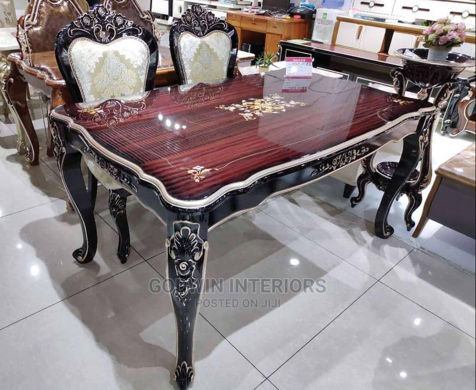 New Royal Wooden Dining Table With 6 Chairs