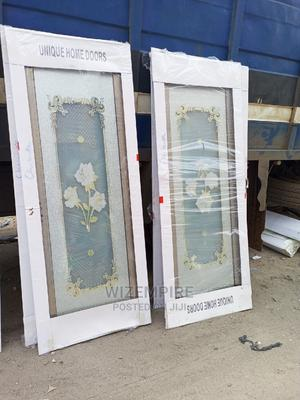Aluminum Full Glass Toilet Door Available   Doors for sale in Lagos State, Orile