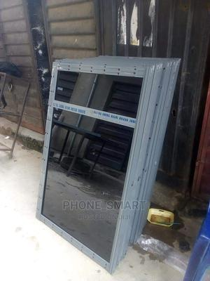 Gray Sliding Window With Gray Glass | Windows for sale in Lagos State, Abule Egba