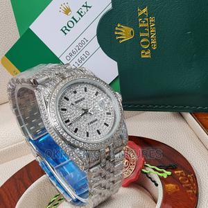 Rolex Oyster Perpetual Full Ice Silver Chain Watch | Watches for sale in Lagos State, Lagos Island (Eko)