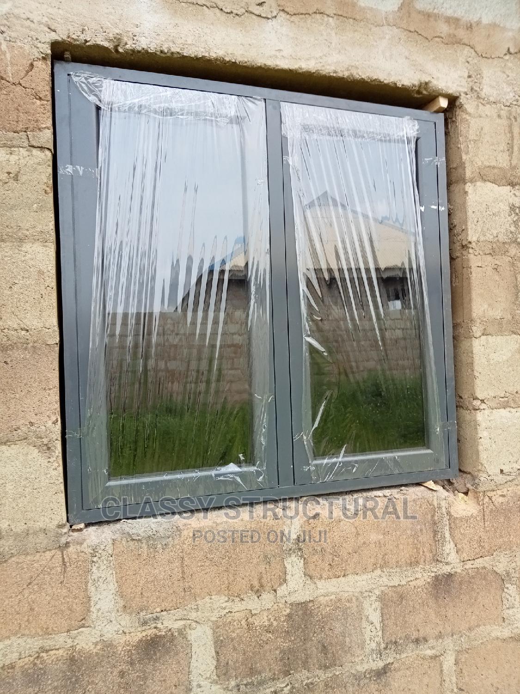 Grey Casement Window With Burglary