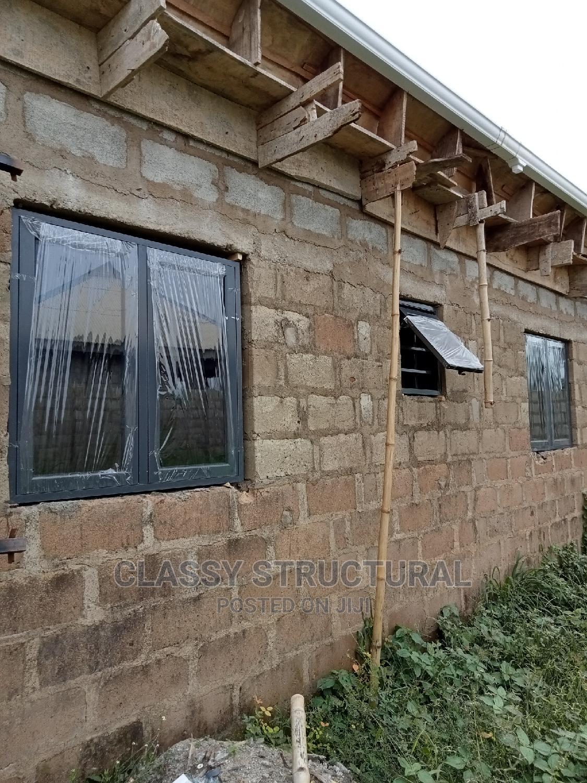 Grey Casement Window With Burglary   Windows for sale in Agege, Lagos State, Nigeria
