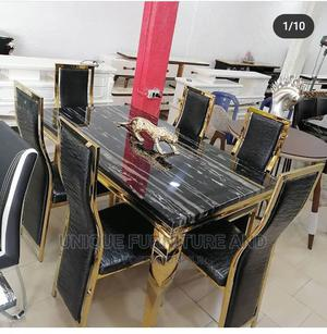 Gold Dinning Table | Furniture for sale in Lagos State, Amuwo-Odofin