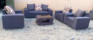 Set of 7 Seaters Sofa Chairs With Glass Table. Fabric Couch | Furniture for sale in Lagos State, Agege