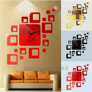 Square Acrylic Wall Clock | Home Accessories for sale in Lagos State, Alimosho