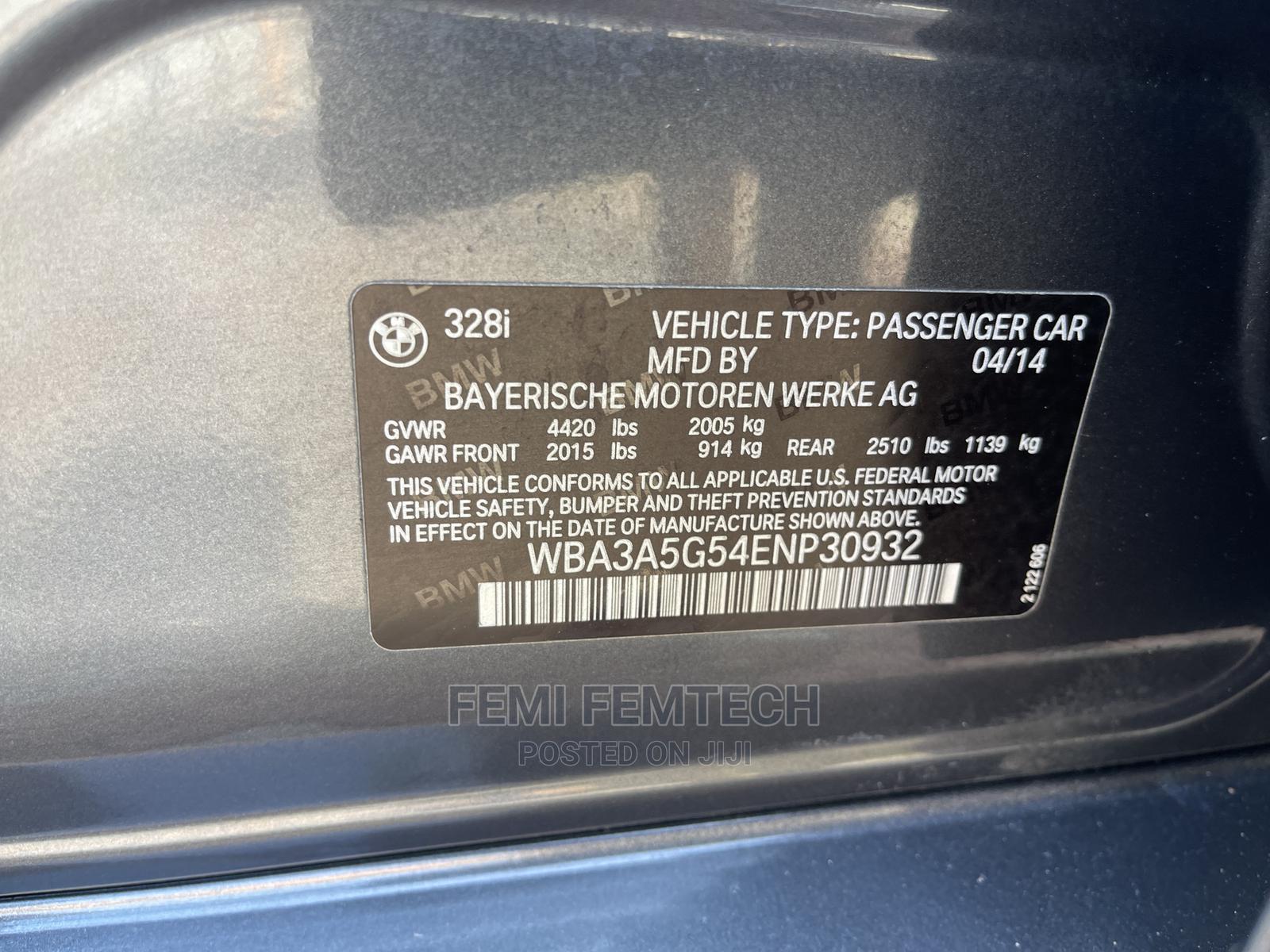 Archive: BMW 328i 2014 Gray