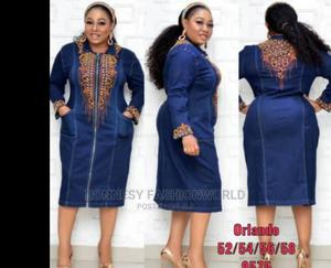 Classic Trendy Female Quality Denim Jeans Gown | Clothing for sale in Lagos State, Yaba