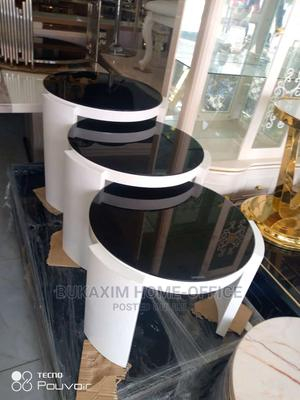 High Quality 3 in 1 Glass Tempered Side Stool/Table | Furniture for sale in Lagos State, Ojo