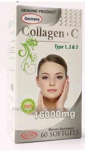 Germany Collagen 1600mg + C Type 1,2,3. X 60   Vitamins & Supplements for sale in Lagos State, Surulere