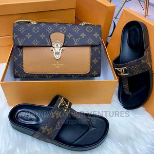 Set of Louis Vuitton Bag and Slippers   Bags for sale in Abuja (FCT) State, Wuse 2