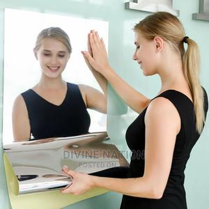 Mirror Wall Sticker Rectangle Self Adhesive Room Decor Stick   Home Accessories for sale in Lagos State, Lagos Island (Eko)