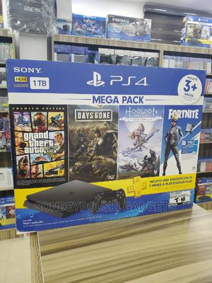 Sony Playstation 4 Slim /1tb Mega Pack 2 ( God of War, GTA 5 | Video Game Consoles for sale in Lagos State, Ikeja