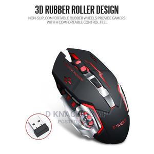2.4ghz Wireless Rechargeable Game Mouse Luminous Plug Play | Computer Accessories  for sale in Lagos State, Isolo
