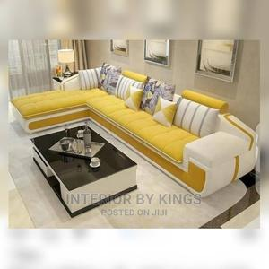 L-Shaped Catalogue Sofa +A Coffee Table (Lead Time:12days   Furniture for sale in Lagos State, Victoria Island