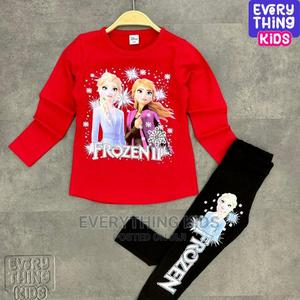 Frozen Long Sleeve T-Shirt and Leggings Set-Red | Children's Clothing for sale in Lagos State, Ikeja