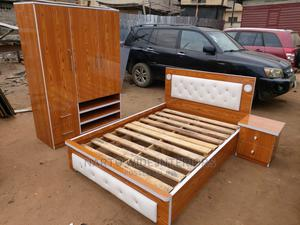 4by6 Bed Frame With Quality Wardrobe   Furniture for sale in Lagos State, Ojo