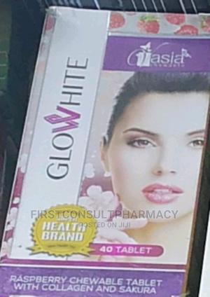 Glow White Raspberry Chewable Tablet With Collagen X 40   Vitamins & Supplements for sale in Lagos State, Surulere