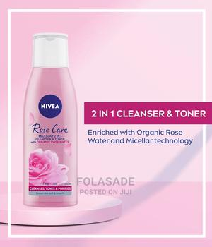 Nivea Micellair Rose Water 2 in 1 Cleanser Toner | Skin Care for sale in Lagos State, Abule Egba