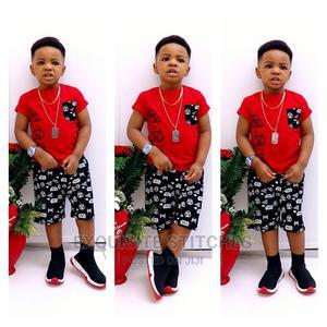 Designer Children Wears-Cute Boys 2pcs Sleeveless Tshirt Set   Children's Clothing for sale in Lagos State, Ikeja