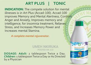 Art PLUS Total Brain Solution   Vitamins & Supplements for sale in Lagos State, Ajah