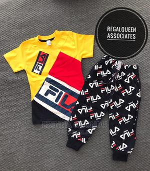 Yellow Polo and Black Trouser for Little Boys | Children's Clothing for sale in Imo State, Owerri