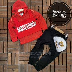 Red Hooded Long Sleeves and Black Trouser With Waist Bag | Children's Clothing for sale in Imo State, Owerri