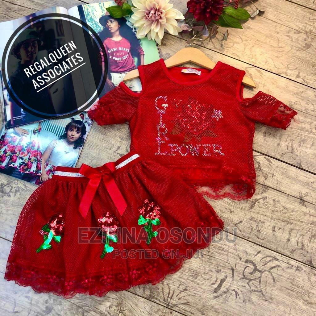 Red Top and Skirt for Girls