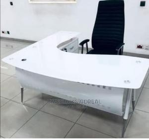 Executive 1.6m Glass Table With Extension and Mobile Drawer | Furniture for sale in Lagos State, Victoria Island