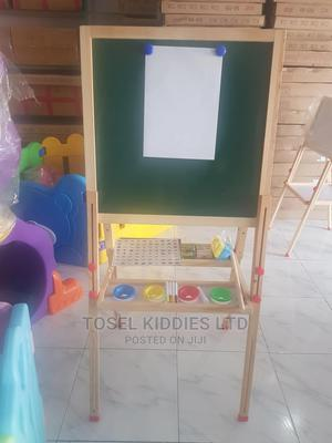Wooden Double Sided Magnetic Easel Board With Accessories | Toys for sale in Lagos State, Ajah