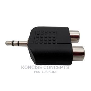 3.5m Jack Stereo AUX Male to 2RCA Female Audio Cable Adapter | Accessories & Supplies for Electronics for sale in Lagos State, Lekki