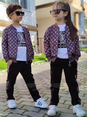 Children Wear-Designer Louis Vuitton 3pcs T-Shirt Set | Children's Clothing for sale in Lagos State, Ikeja