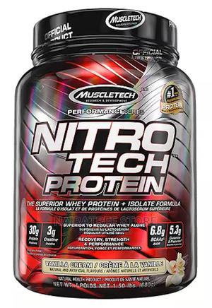 Muscletech Nitrotech Protein, Vanilla Cream, 1.5lbs   Vitamins & Supplements for sale in Lagos State, Lekki