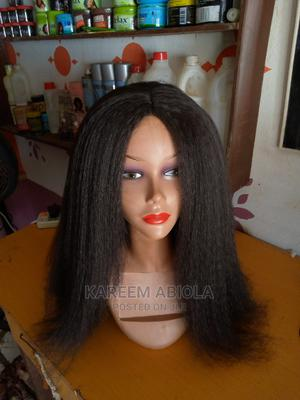 24inch Afro Kinky Straight Wigs   Hair Beauty for sale in Oyo State, Ibadan