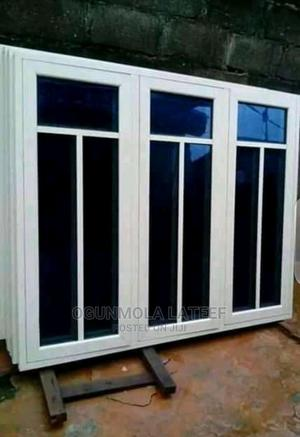 Casement Windows Aluminum With Glass and Net Big Window | Windows for sale in Oyo State, Ibadan