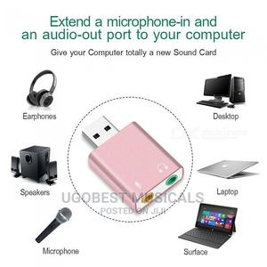 Plug And Play USB SOUNDCARD Adapter For PC, Laptop iPad. | Accessories & Supplies for Electronics for sale in Lagos State, Mushin